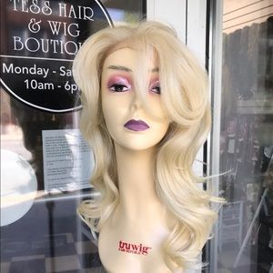 Accessories - Fulllace Blonde 613 Romance curl Human hair blende